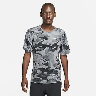 Nike Pro Kısa Kollu Kamuflaj Desenli Erkek Üstü