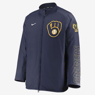 Nike Dugout (MLB Milwaukee Brewers) Men's Full-Zip Jacket