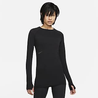 Nike NSRL Långärmad tröja i ull med rund hals för kvinnor