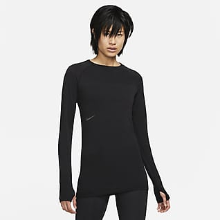 Nike NSRL Sudadera de cuello redondo de lana manga larga para mujer