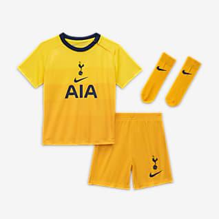 Terceiro equipamento Tottenham Hotspur 2020/21 Equipamento de futebol para bebé