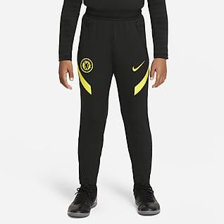 Τσέλσι Strike Ποδοσφαιρικό παντελόνι Nike Dri-FIT για μεγάλα παιδιά