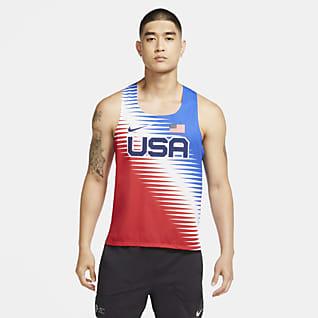 Nike Dri-FIT ADV Team USA AeroSwift Pánské běžecké tílko