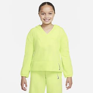Nike Yoga Sudadera con capucha de tejido Fleece para niña talla grande
