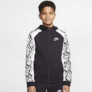 Nike Sportswear Sweat à capuche à zip intégral en molleton pour Garçon plus âgé
