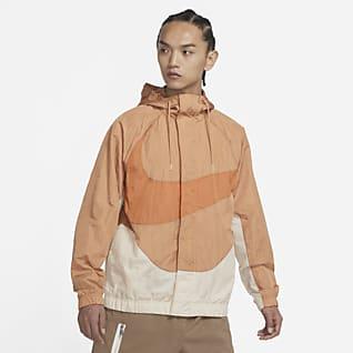 Nike Sportswear Swoosh เสื้อแจ็คเก็ตมีซับในผู้ชายแบบทอ