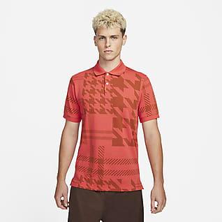 The Nike Polo Geruite polo met aansluitende pasvorm voor heren