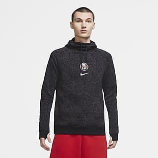 Club América Sudadera de fútbol con capucha y sin cierre de tejido Fleece para hombre