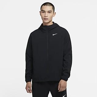 Nike Run เสื้อแจ็คเก็ตวิ่งผู้ชายแบบทอ