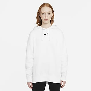 Nike Sportswear Essential Collection Dámská volnější flísová mikina skapucí