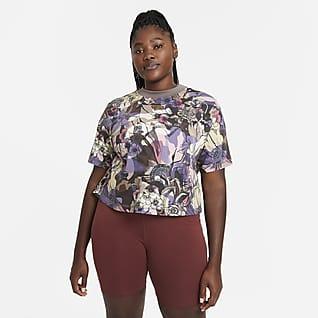 Nike Sportswear Femme Dámský top s krátkým rukávem (větší velikost)