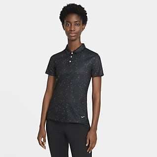 Nike Dri-FIT Women's Printed Short-Sleeve Golf Polo