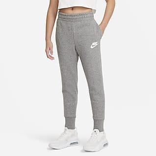 Nike Sportswear Club Kalhoty zfrancouzského froté pro větší děti (dívky)