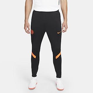 Chelsea FC Strike Nike Dri-FIT kötött férfi futball-melegítőnadrág