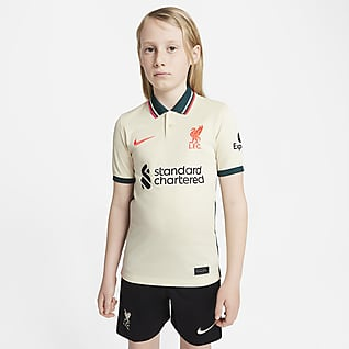 Liverpool FC 2021/22 Stadium Away Fodboldtrøje til større børn