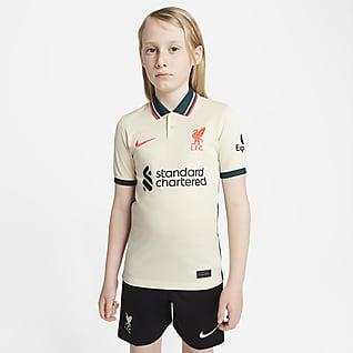 Liverpool FC 2021/22 Stadyum Deplasman Genç Çocuk Futbol Forması