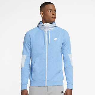 Nike Sportswear Modern Essentials Ανδρική ανάλαφρη μπλούζα με κουκούλα και φερμουάρ σε όλο το μήκος