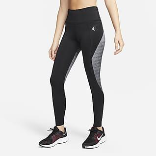 Nike Air Dri-FIT Fast Løpeleggings til dame