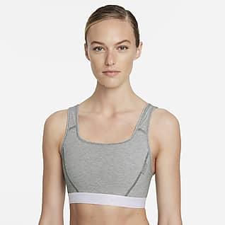 Nike Dri-FIT Swoosh Soft Tee Women's Medium-Support 1-Piece Pad Sports Bra