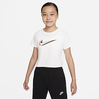 Nike Sportswear Cropped-T-shirt til større børn (piger)