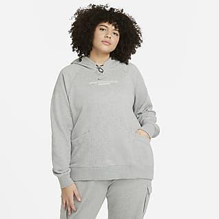 Nike Sportswear Swoosh Γυναικεία μπλούζα με κουκούλα (μεγάλα μεγέθη)