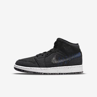 Air Jordan 1 Mid SE Big Kids' Shoes