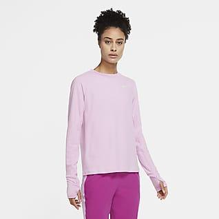 Nike Sphere Camiseta de cuello redondo de running para mujer