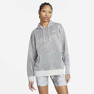 Nike Icon Clash Pullover-træningshættetrøje til kvinder