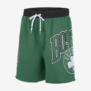 Boston Celtics Courtside Shorts in Fleece Nike NBA - Uomo
