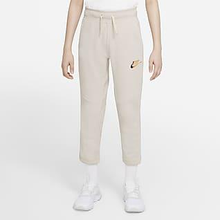 Nike Sportswear Fleecebukse for store barn (gutt)