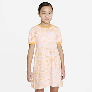 Nike Sportswear Mönstrad kortärmad klänning för tjejer