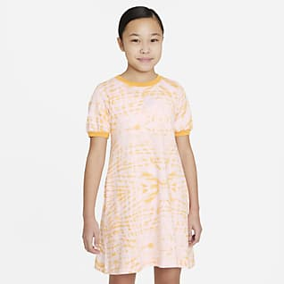 Nike Sportswear Older Kids' (Girls') Printed Short-Sleeve Dress