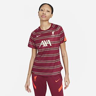 Liverpool FC Camiseta de fútbol de manga corta para antes del partido - Mujer