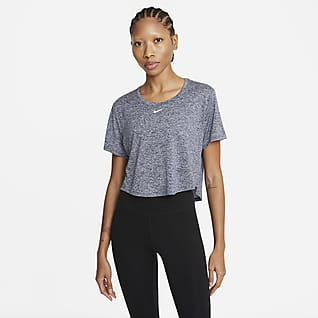 Nike Dri-FIT One Women's Standard Fit Short-Sleeve Cropped Top
