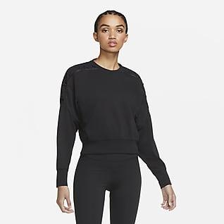 Nike Dessuadora curta de teixit Fleece amb cordons d'entrenament - Dona