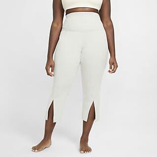 Nike Yoga Pantalones de 7/8 de tela rib para mujer (talla grande)