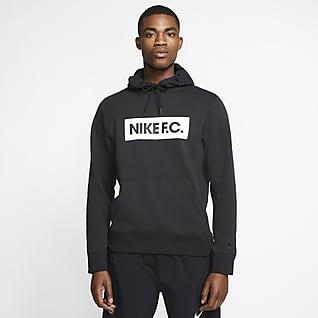 Nike F.C. Hoodie pullover de futebol de lã cardada para homem