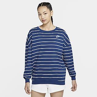 Nike Sportswear Loose Fit 女子条纹圆领上衣