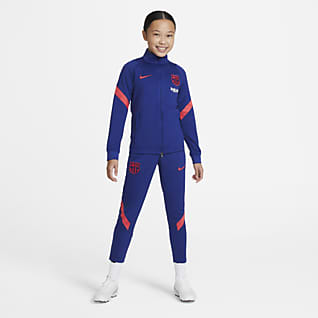F.C. Barcelona Strike Older Kids' Football Tracksuit