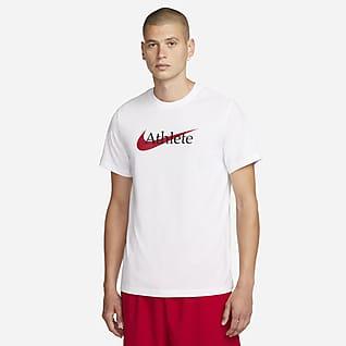 Nike Dri-FIT Мужская футболка для тренинга с логотипом Swoosh