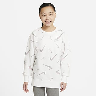 Nike Sportswear Older Kids' (Girls') French Terry Printed Crew