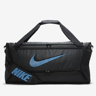 Nike Brasilia Bolsa de lona de entrenamiento (mediana)
