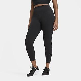 Nike One Damen-Leggings mit halbhohem Bund (große Größe)