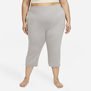 Nike Yoga Luxe Pantalones de pescador de tejido Fleece para mujer (talla grande)