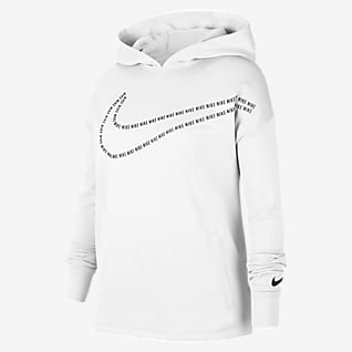 Nike Therma Big Kids' (Girls') Graphic Pullover Training Hoodie