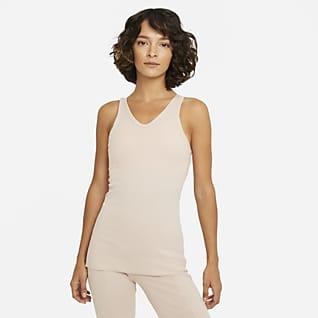 Nike Yoga Camiseta de tirantes de tela rib para mujer