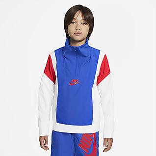 Nike Sportswear Amplify Big Kids' (Boys') 1/2-Zip Woven Top