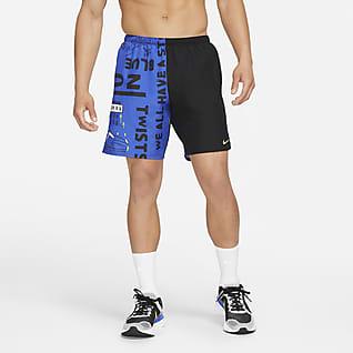 Nike Challenger Hackney Short de running avec sous-short intégré pour Homme