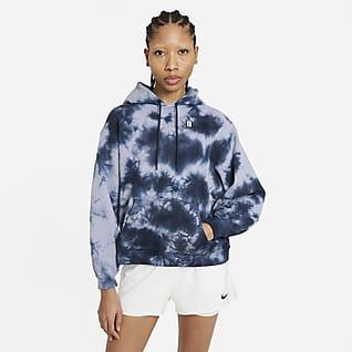 NikeCourt Hoodie de ténis com estampado tie-dye para mulher