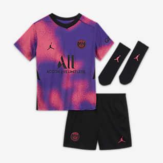 Paris Saint-Germain 2021/22 Fourth Fotballdraktsett til sped-/småbarn